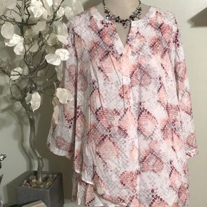 CYNTHIA ROWLEY PLUS SIZE BLOUSE